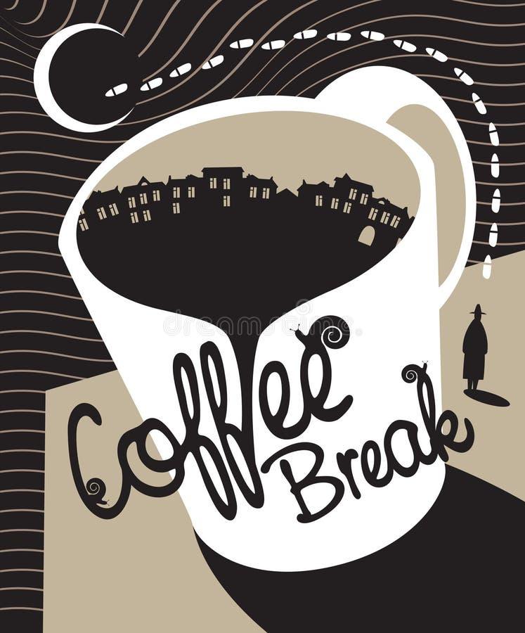Kawowa przerwa ilustracji