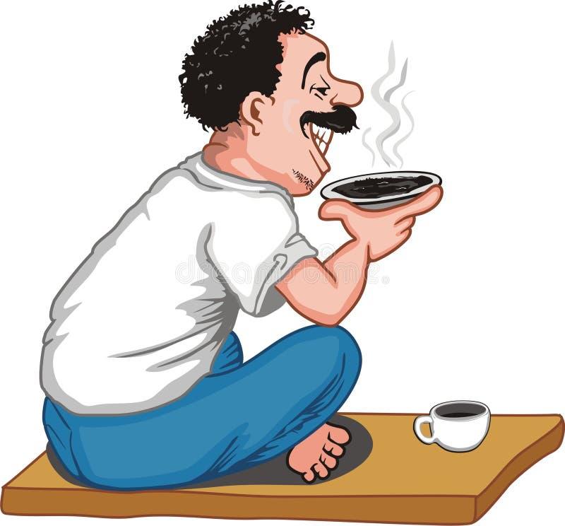 Kawowa przerwa royalty ilustracja