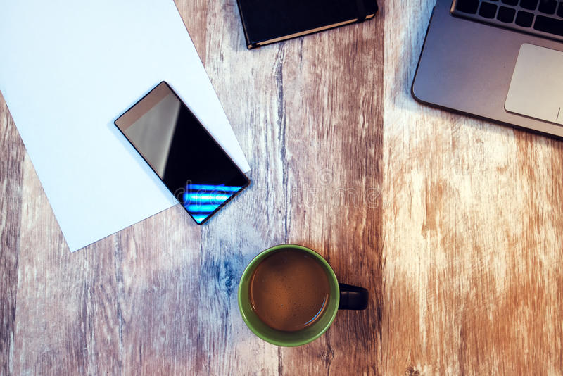 Kawowa przerwa, czas brać fermatę od twój pracy obrazy stock