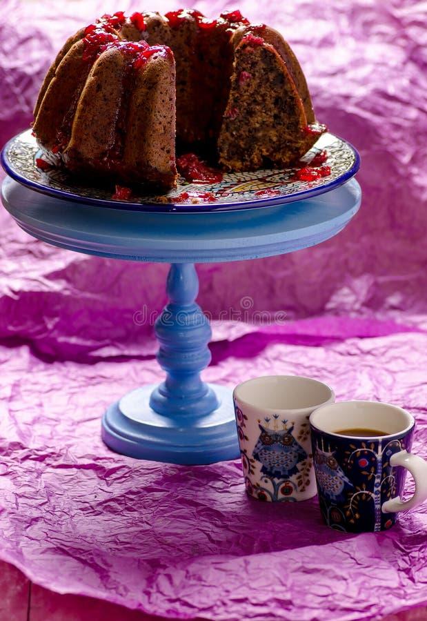 Kawowa przerwa z tortem fotografia royalty free