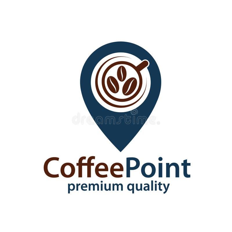 Kawowa punkt ikona royalty ilustracja