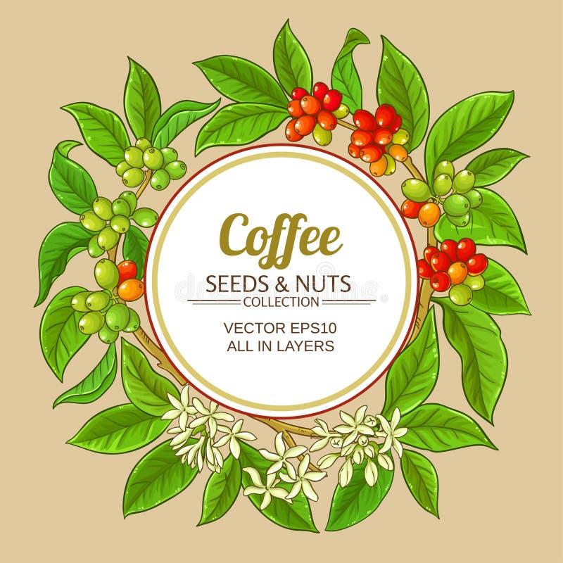 Kawowa wektor rama ilustracji