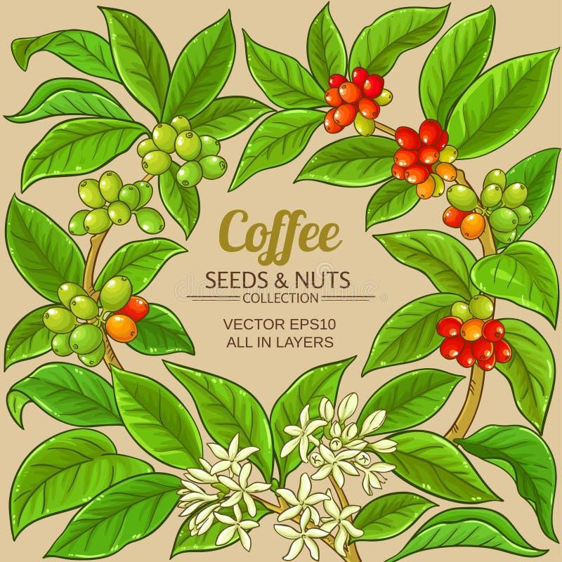 Kawowa wektor rama royalty ilustracja
