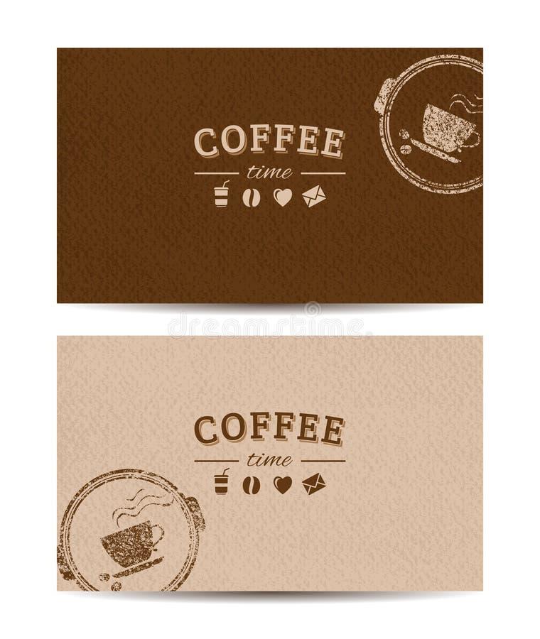 Kawowe czas karty ilustracji