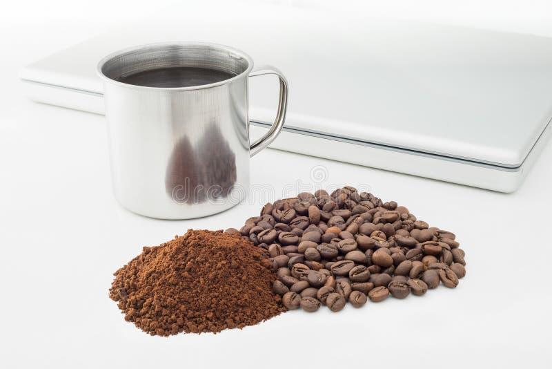 Kawowe fasole i Soluble kawa obrazy stock