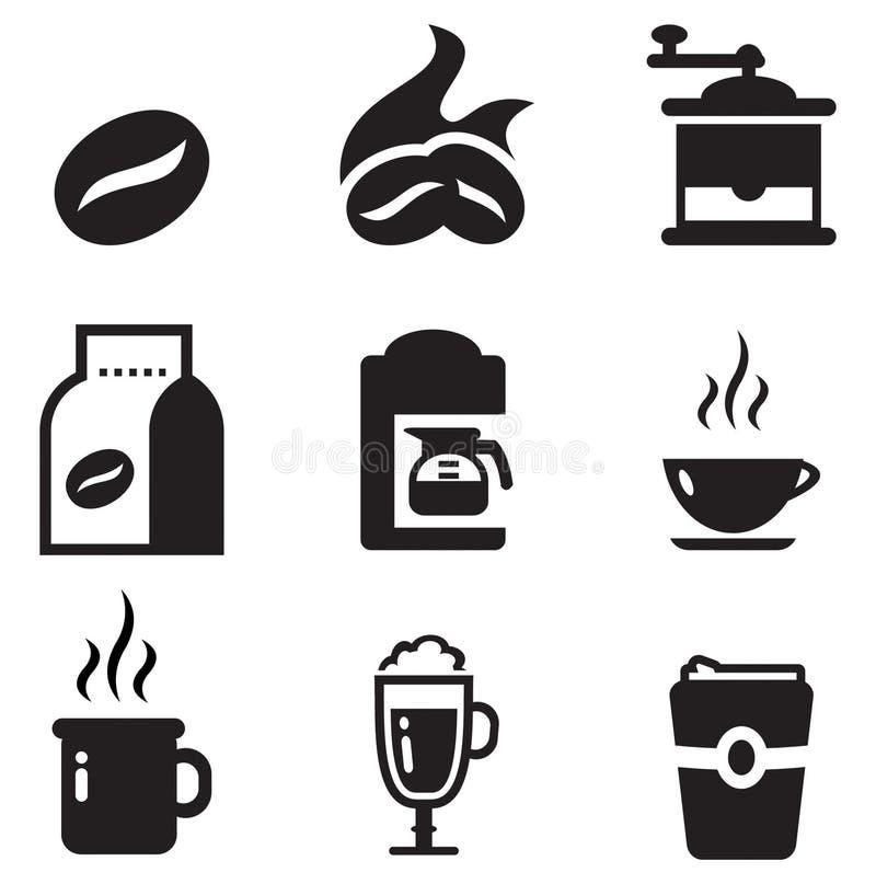 Kawowe ikony ilustracja wektor