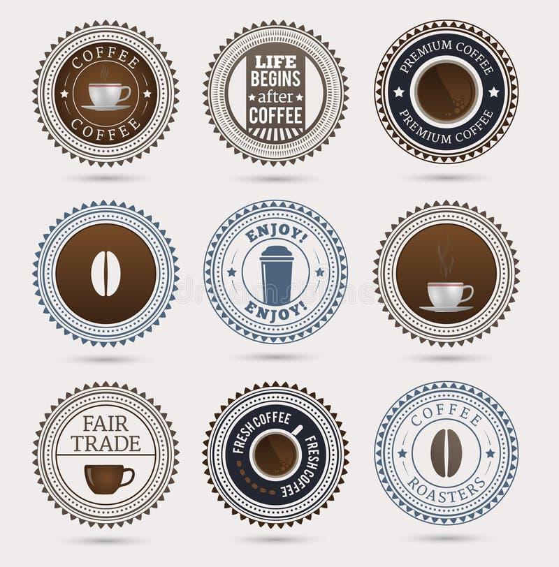 Kawowe odznaki ilustracji