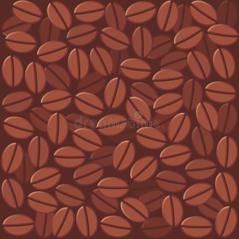 kawowe tło fasole ilustracja wektor