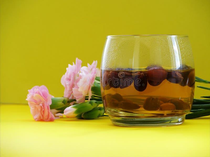 kawowe wiśnie herbaciane obrazy stock