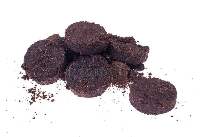 Kawowe ziemie Odpady od kawowej maszyny obrazy stock