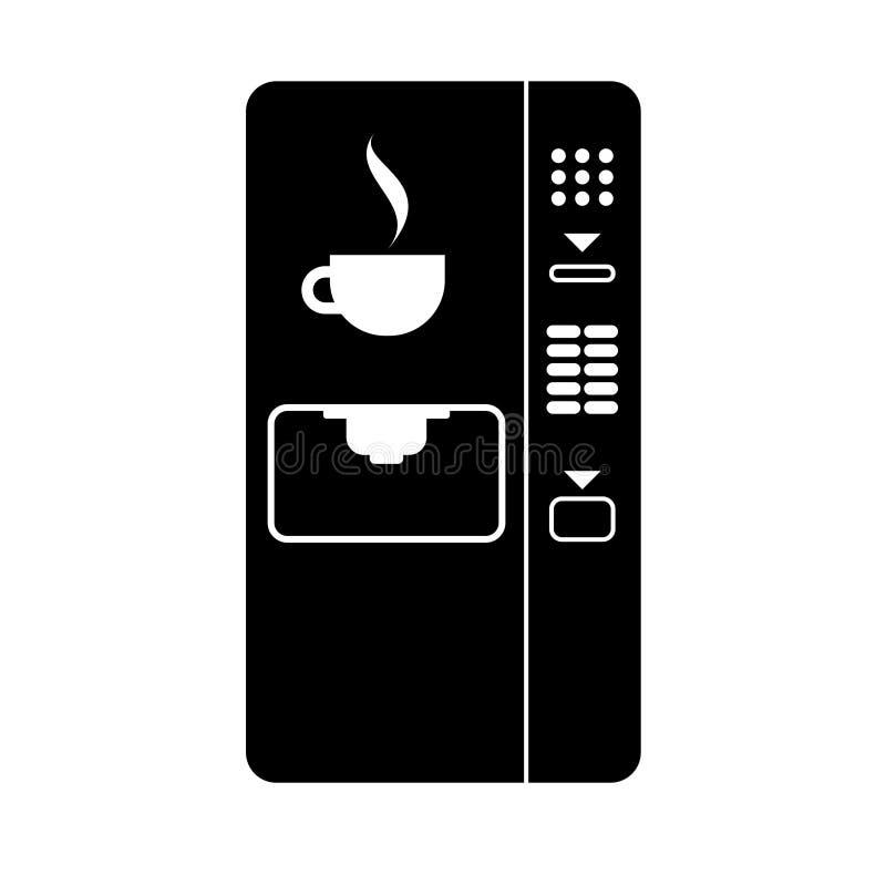 Kawowego automata prosta ikona ilustracja wektor