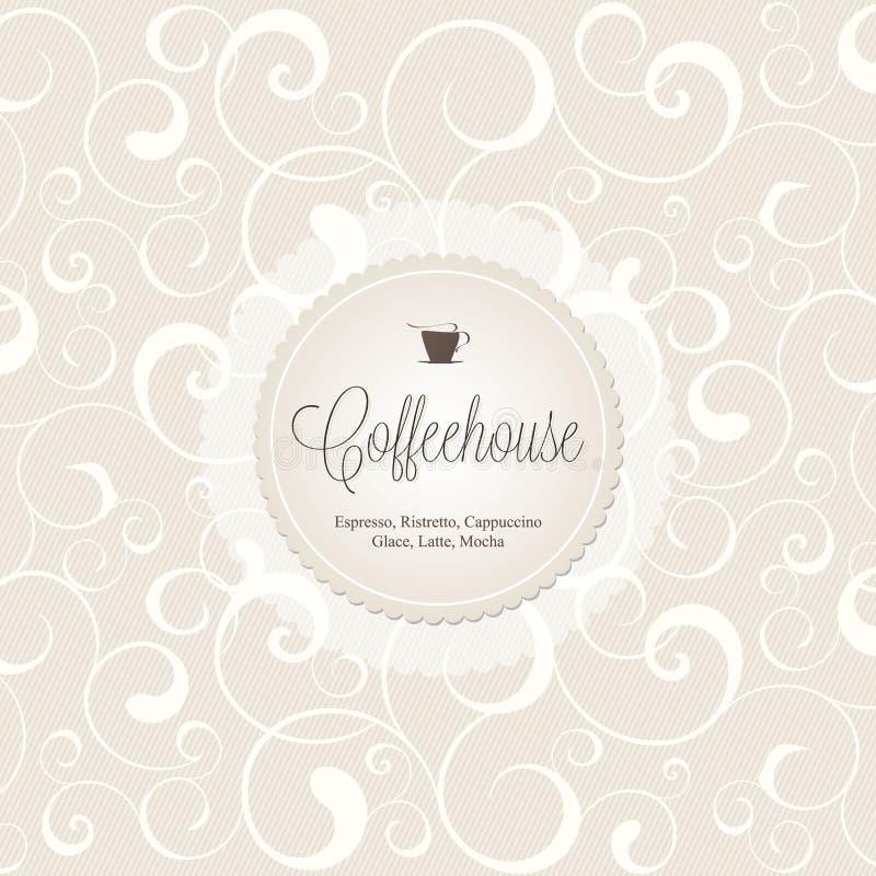 kawowego domu menu restauracja ilustracji