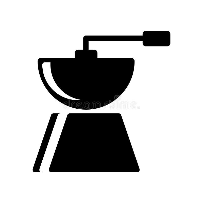 Kawowego ostrzarza ikony wektor odizolowywający na białym tle, Kawowego ostrzarza znak, karmowi symbole ilustracji