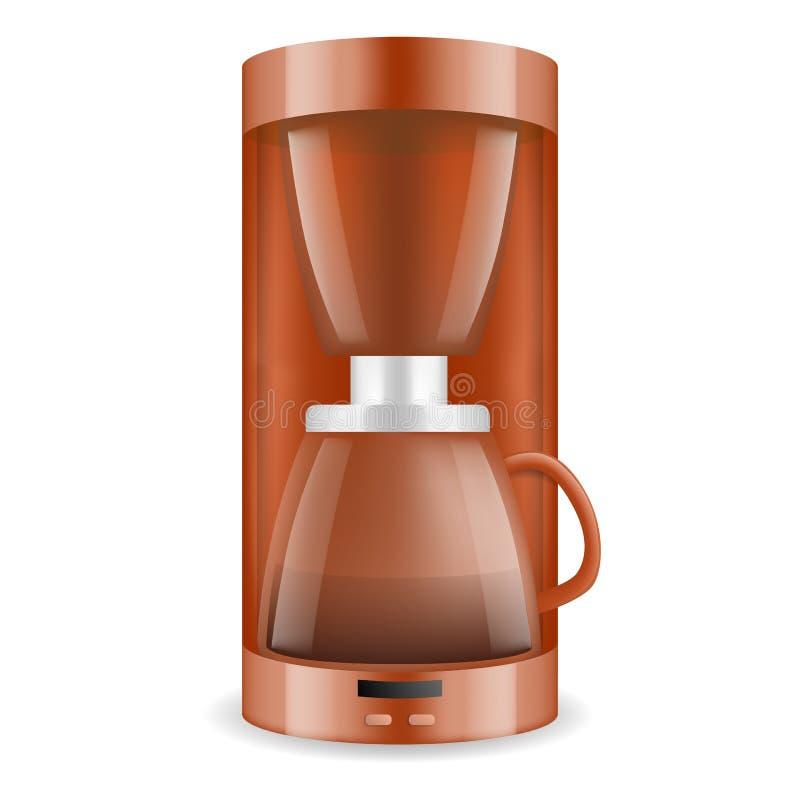 Kawowego producenta ikona, realistyczny styl ilustracja wektor