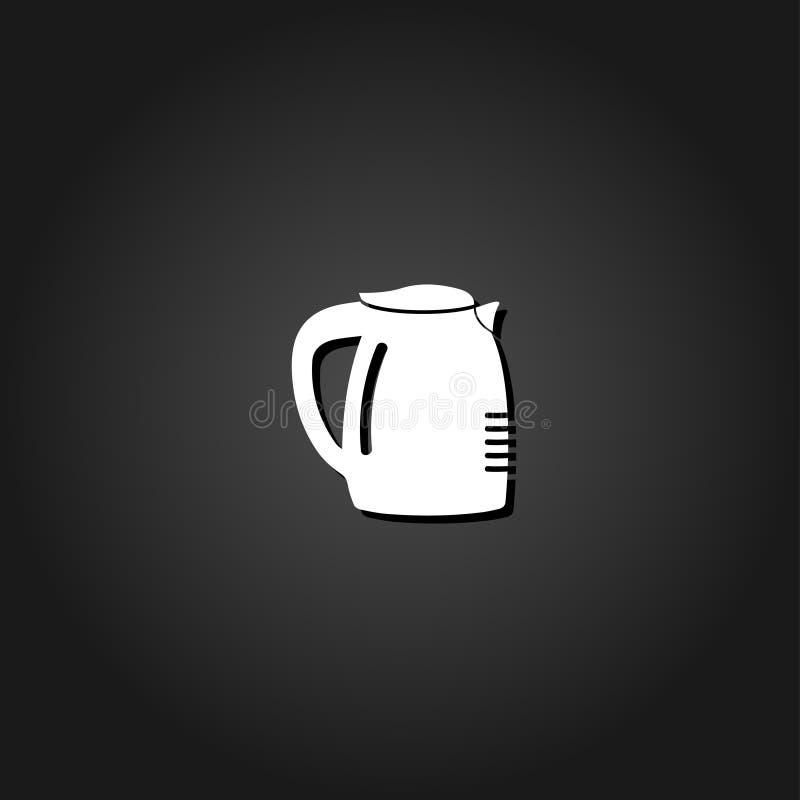 Kawowego producenta ikony mieszkanie royalty ilustracja