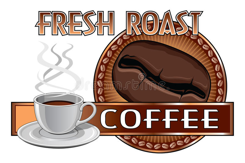 Kawowego projekta Świeża pieczeń ilustracja wektor