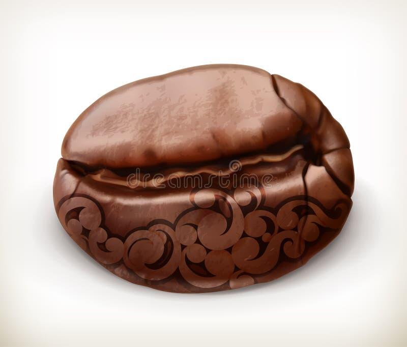 Kawowej fasoli ikona royalty ilustracja