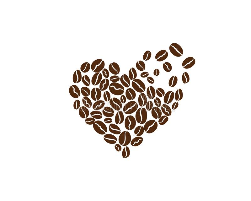 Kawowej fasoli ikony wektor ilustracja wektor