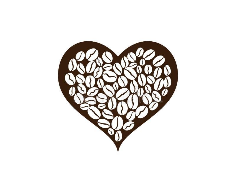 Kawowej fasoli ikony wektor royalty ilustracja