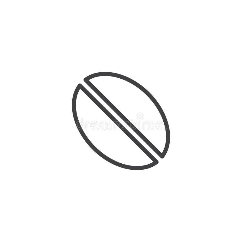 Kawowej fasoli linii ikona ilustracja wektor