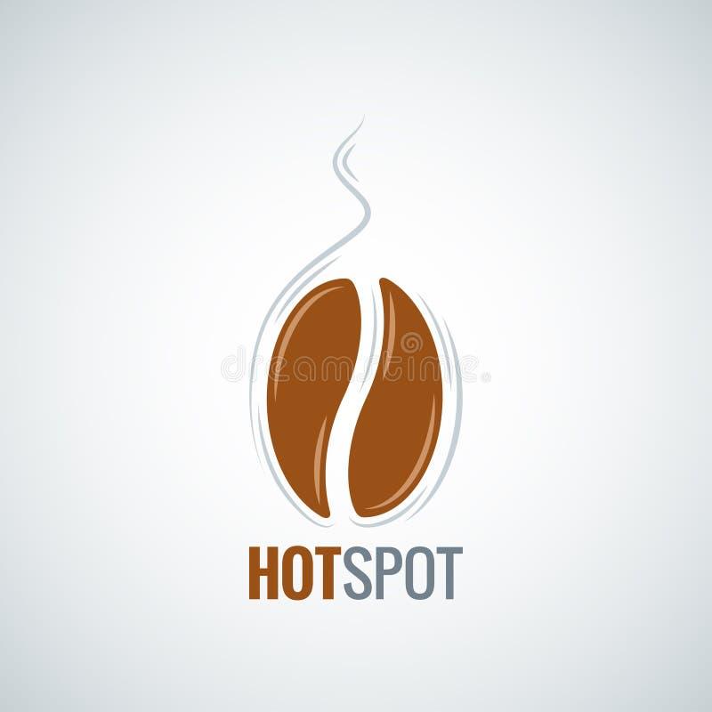 Kawowej fasoli projekta menu tło ilustracji