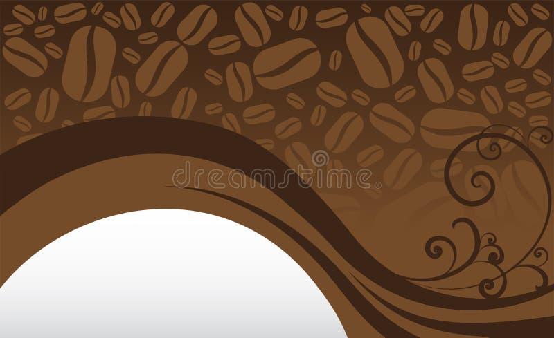 Kawowej fasoli tło royalty ilustracja