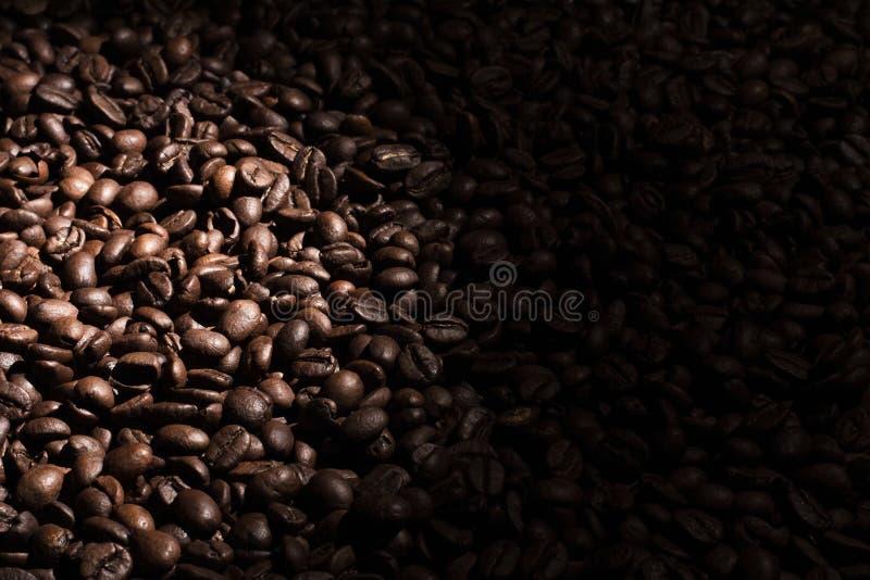 Kawowej fasoli tło blaknie dobro zdjęcie royalty free