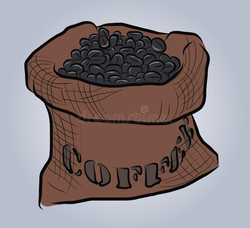 Kawowej fasoli wektor EPS10 ilustracja wektor