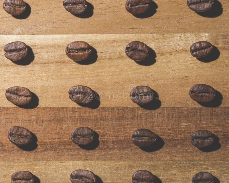 Kawowej fasoli wzór zdjęcia stock