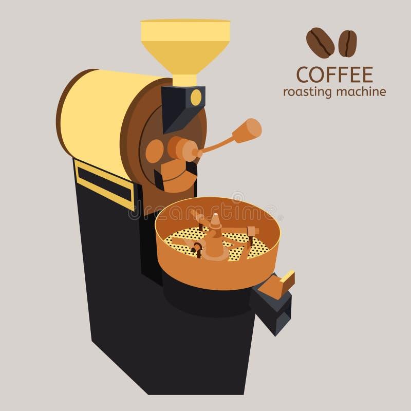 Kawowej prażak maszyny odosobniony wektor royalty ilustracja