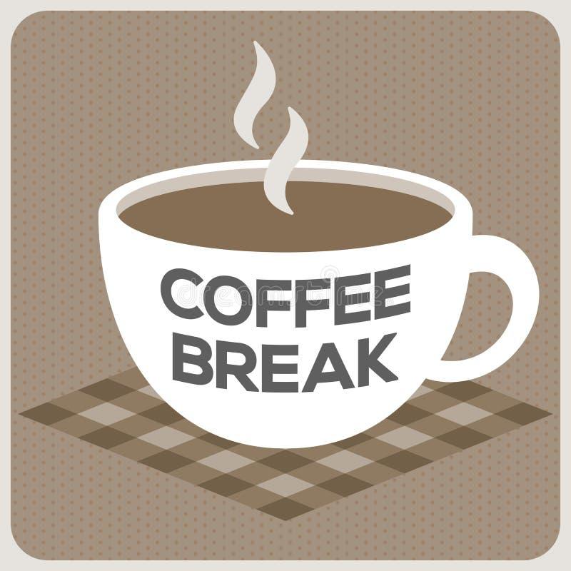 Kawowej przerwy abecadło na filiżance ilustracji