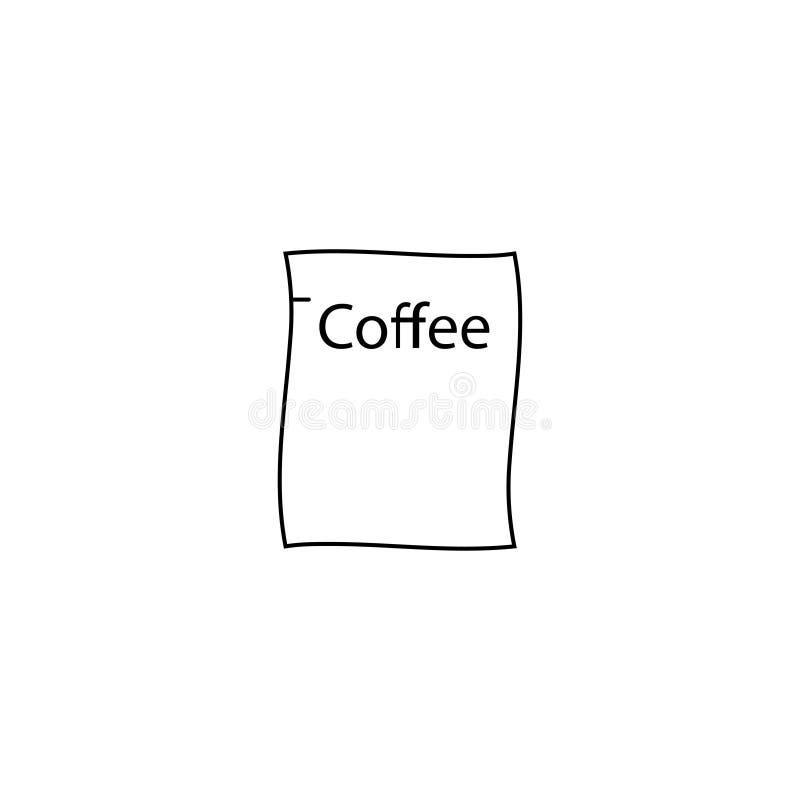 Kawowej torby ikona ilustracji