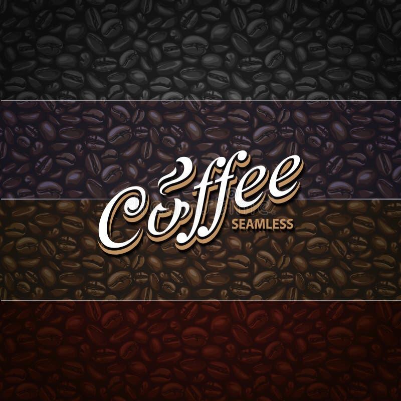 Kawowi Bezszwowi wzory ilustracja wektor
