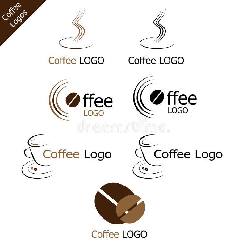 kawowi logowie ilustracji