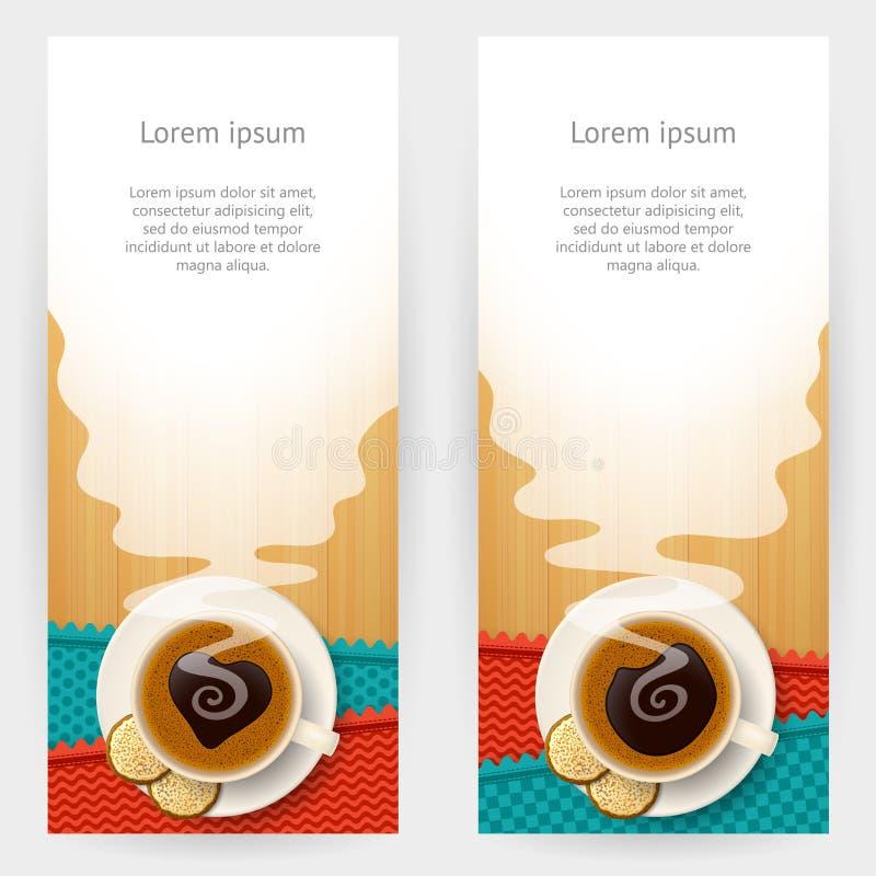 Kawowi tła ilustracji
