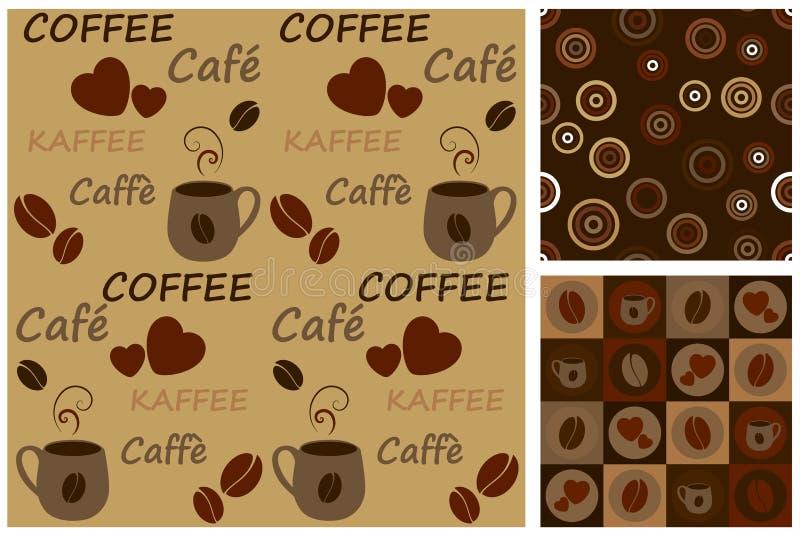 kawowi wzory ilustracji