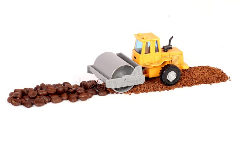 Kawowy śrutowanie zdjęcia stock