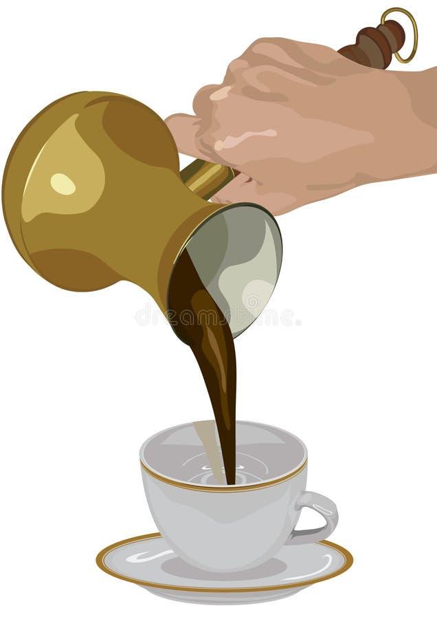 kawowy świeży indyk ilustracja wektor