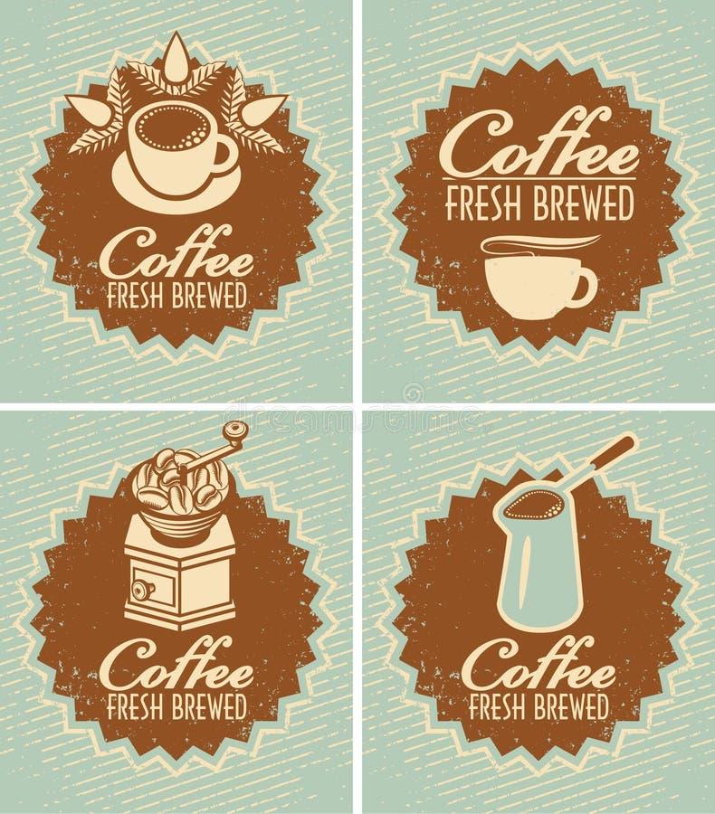 Kawowy świeży warzący royalty ilustracja