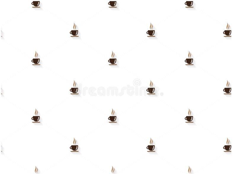 Kawowy abstrakta wzór ilustracja wektor