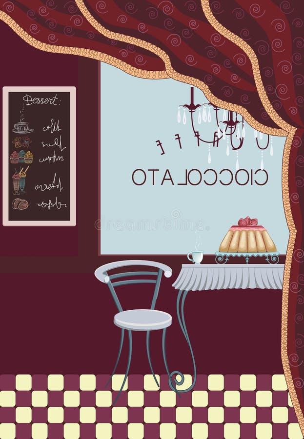 Kawowy bar royalty ilustracja