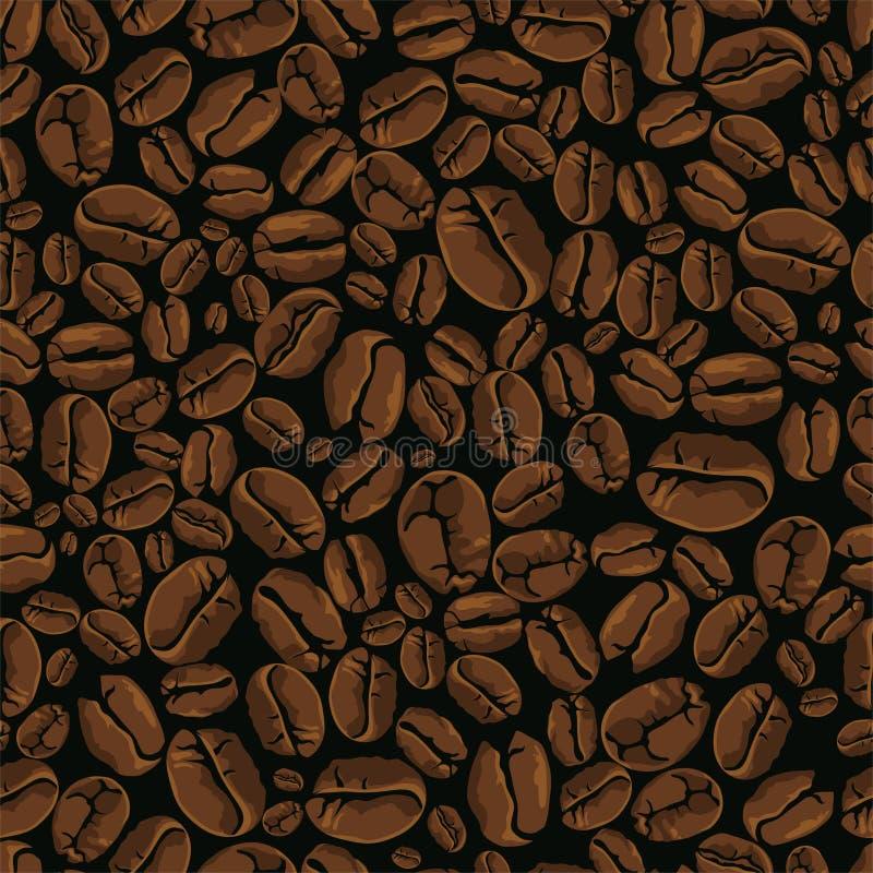 kawowy bezszwowy wektor ilustracji