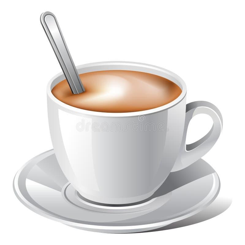 kawowy biel ilustracja wektor