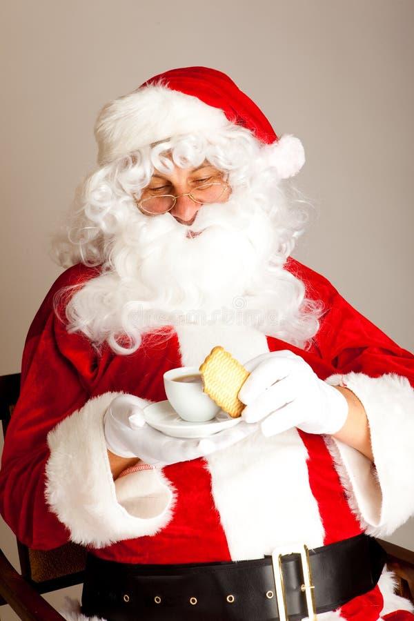 kawowy Claus czas Santa obrazy royalty free