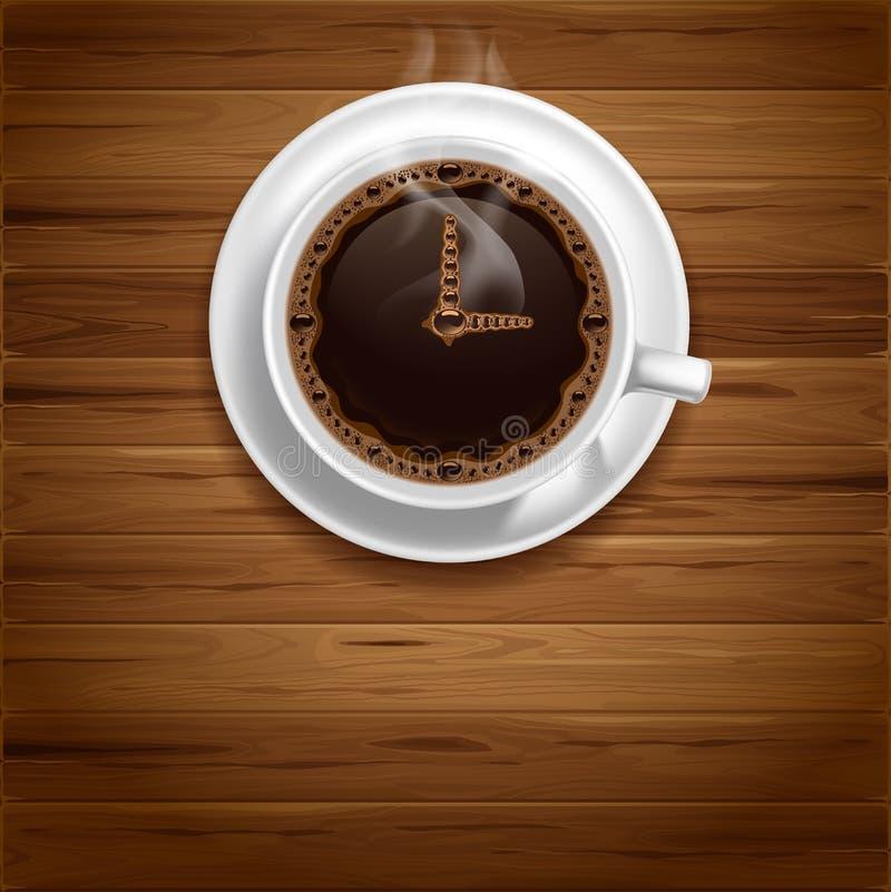 Kawowy czas ilustracji