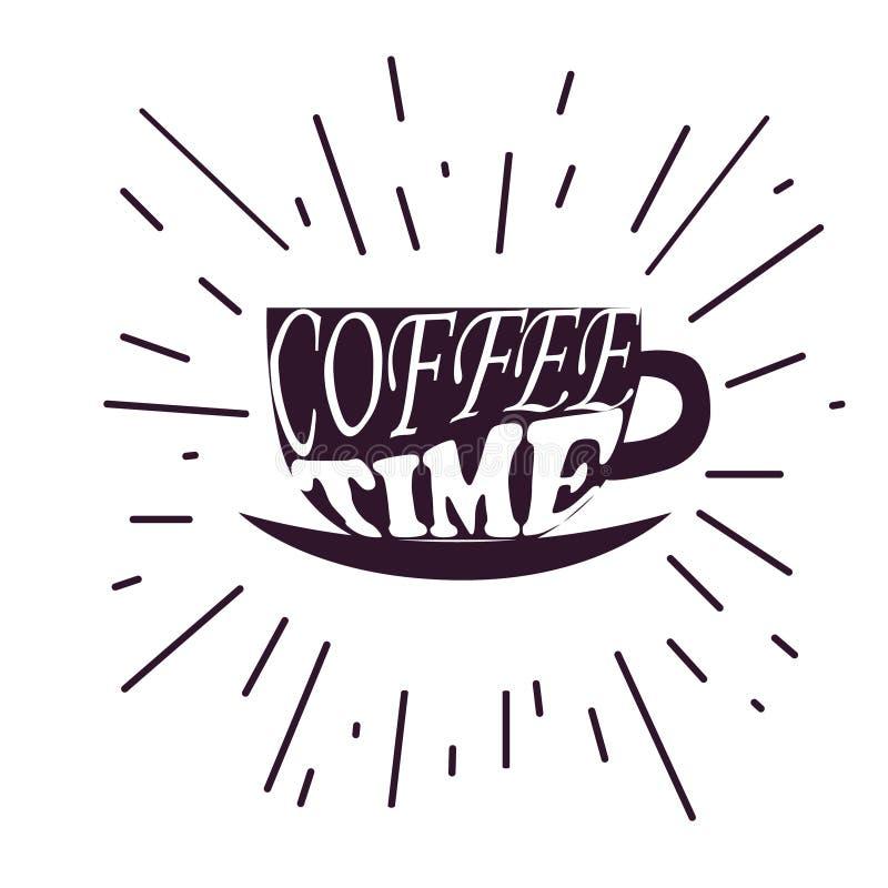Kawowy czasu modnisia rocznik ilustracja wektor