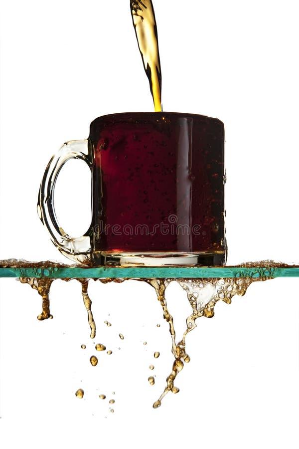 kawowy dolewanie obraz stock