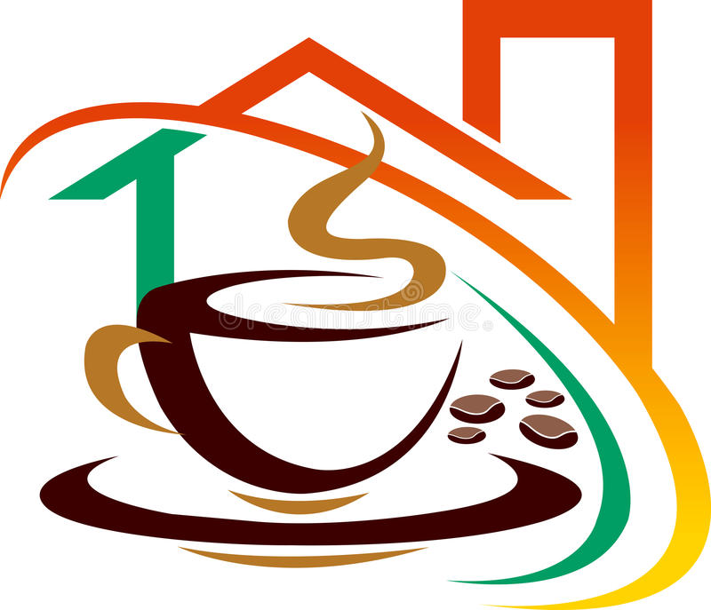 kawowy dom ilustracji