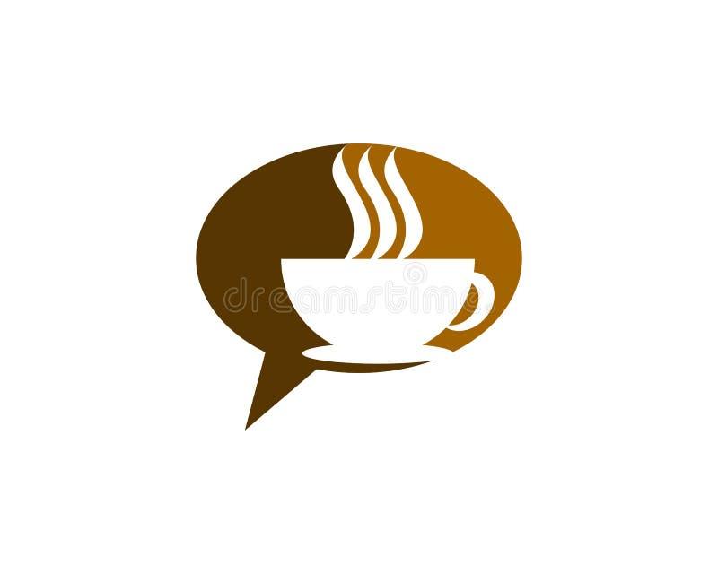 Kawowy gadka logo royalty ilustracja