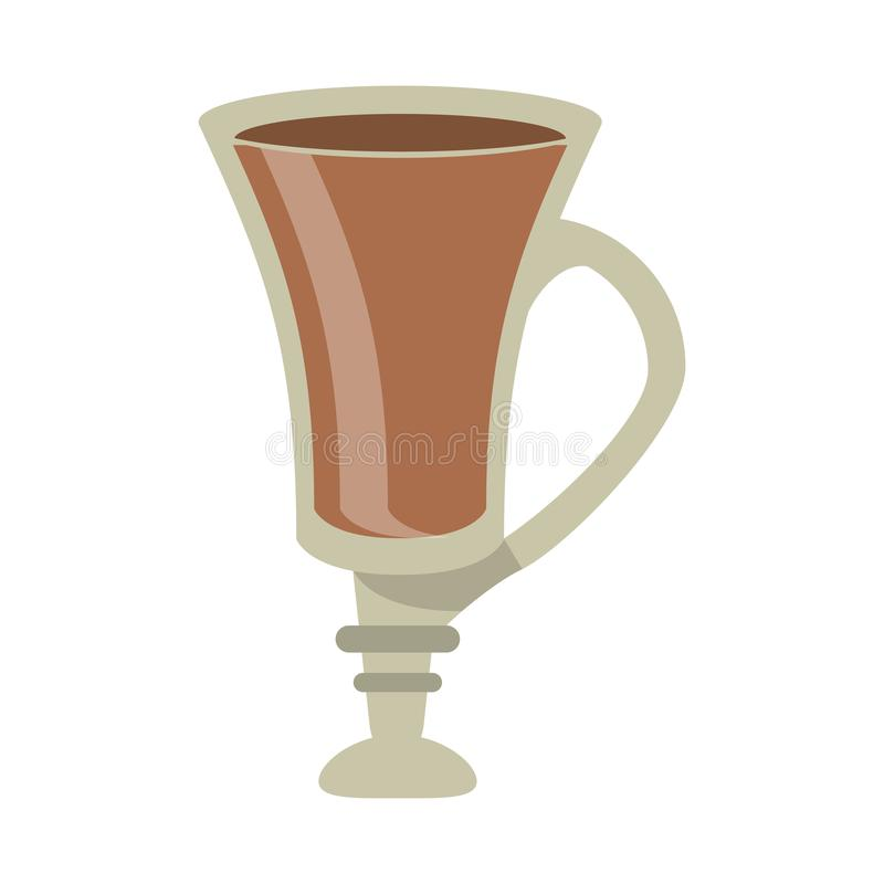 Kawowy gorący napój w szklanej filiżance ilustracji